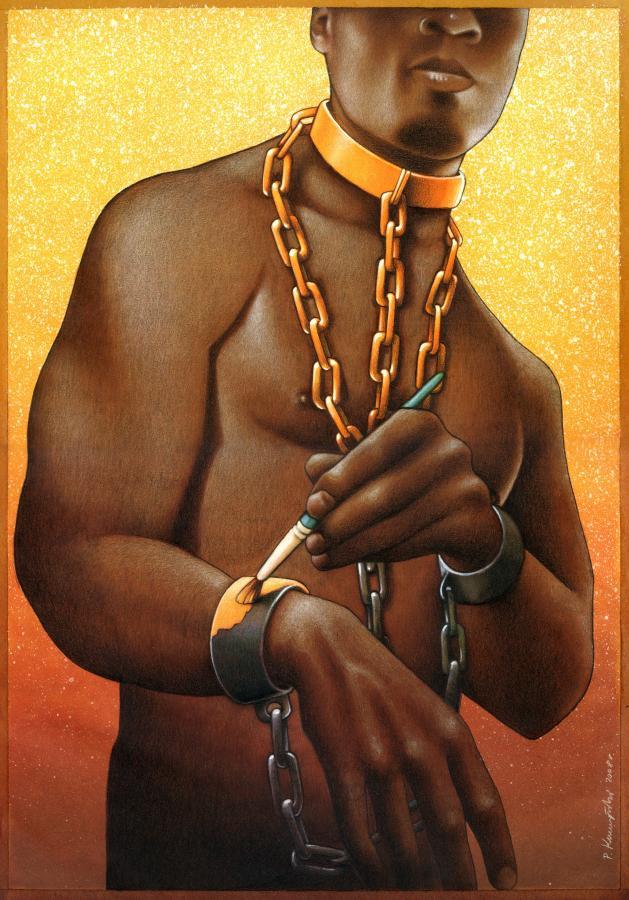 La era del artificio y la estupidez: Esclavos remunerados.