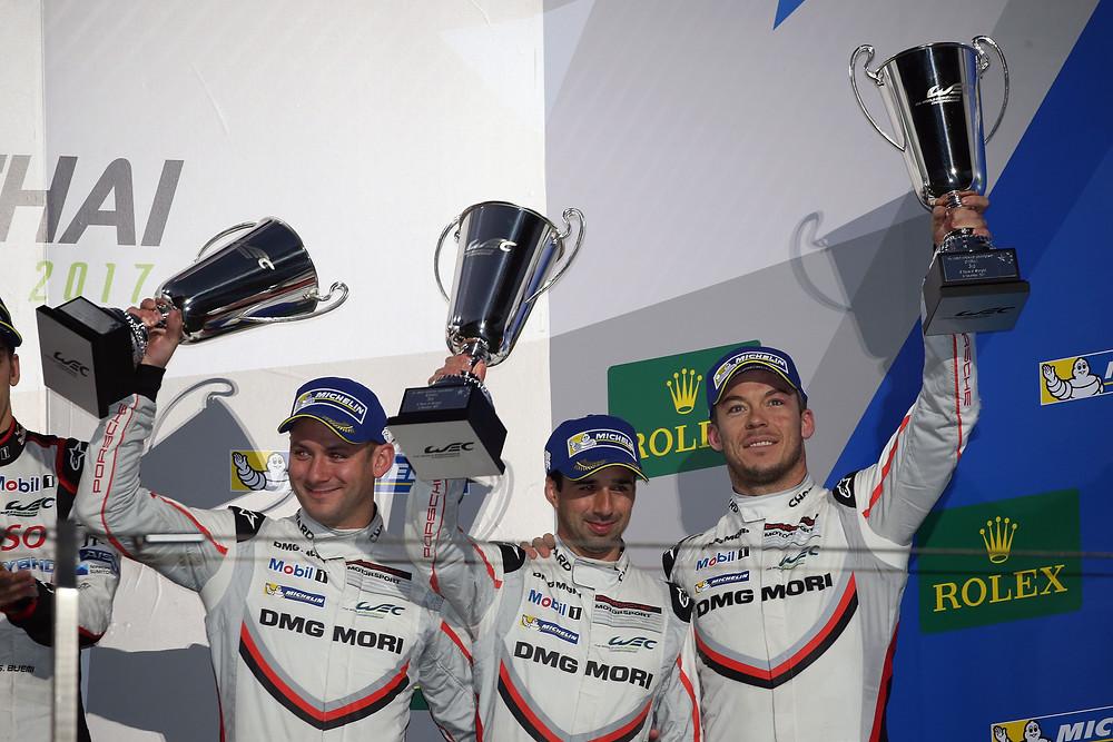 Neel Jani (Suiza), André Lotterer (Alemania) y Nick Tandy (Gran Bretaña)