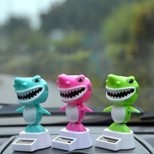 1Pcs Solar Energy Swing Doll Shark Toys Ornaments Auto Decoration