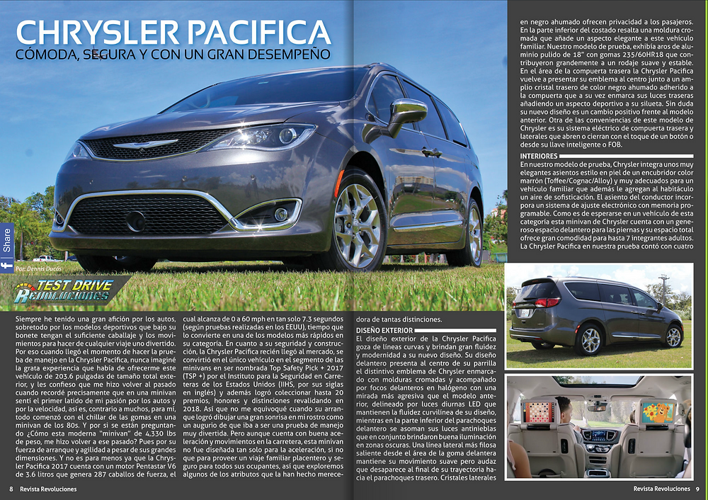 Test Drive Revoluciones Chrysler Pacifica