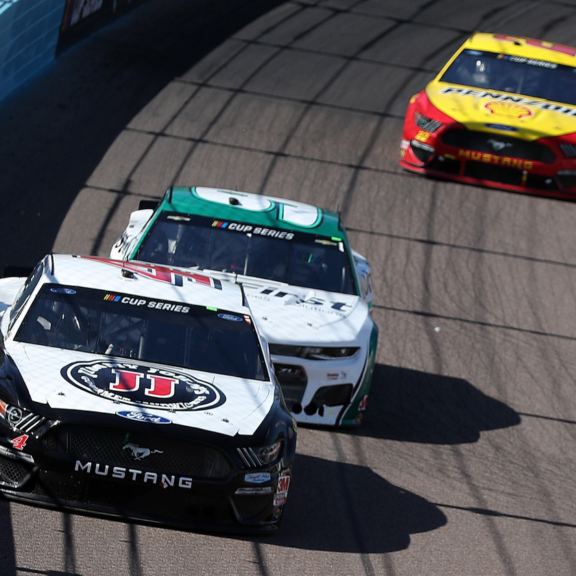 Kevin Harvick, driver of the #4 Jimmy John's Freaky Fast Rewards Ford, leads during the NASCAR Cup Series FanShield 500 at Phoenix Raceway on March 08, 2020 in Avondale, Arizona. (Photo by Chris Graythen/Getty Images)