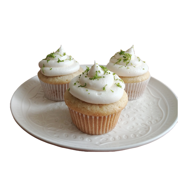 coconut lime cupcakes transparent backgr