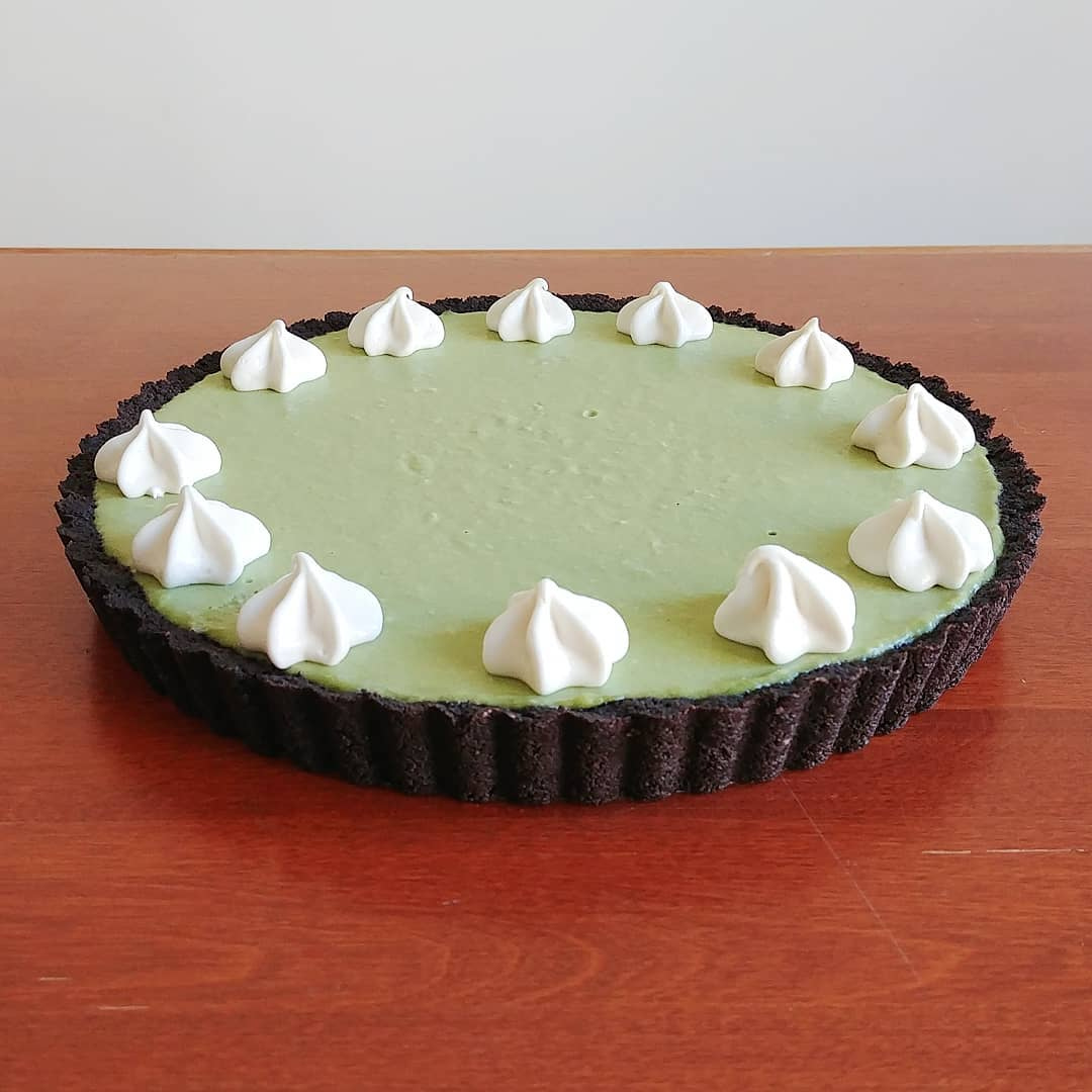 Matcha Coconut Chocolate Tart