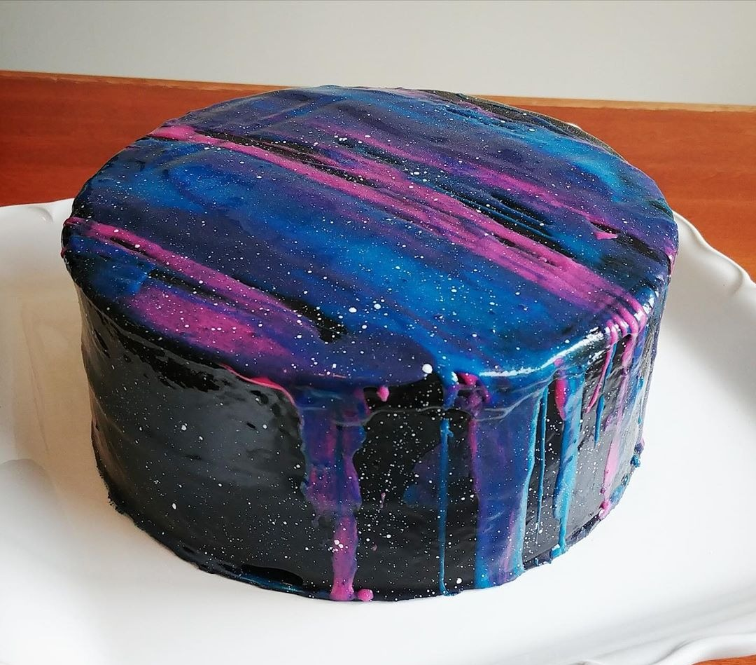 Double Chocolate Galaxy Cake