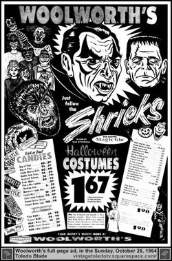 Woolworths Halloween ad