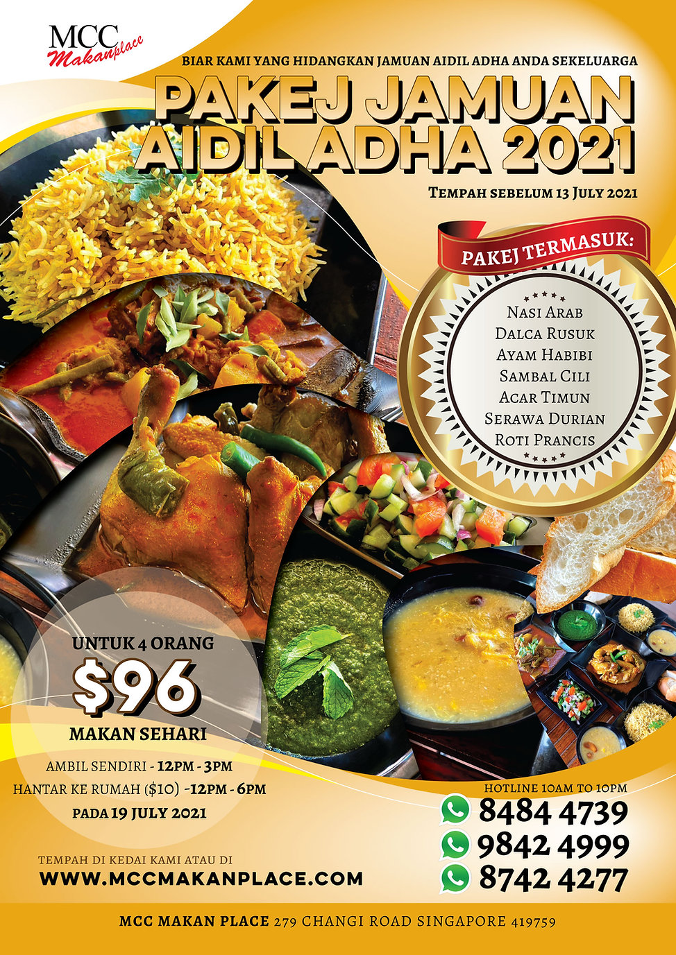 Pakej Jamuan Haji 2021 - A3 Poster Optim