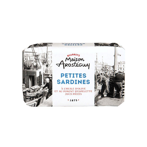 Mini Sardines à l'Huile d'Olive & Piment d'Espelette