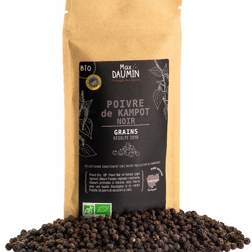 Organic IGP Kampot black pepper