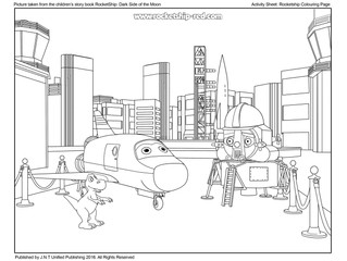 RocketShip Activity 8 Colouring Sheet