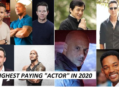"""#""""THE HIGHEST PAYING ACTOR IN 2020"""" LIST"""