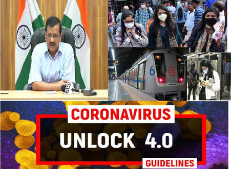 INDIA'S UNLOCK 4.O GUIDELINES & UPDATES |Metro to start from 7 september...