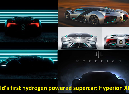 #The world's first hydrogen powered supercar:Hyperion XP-1