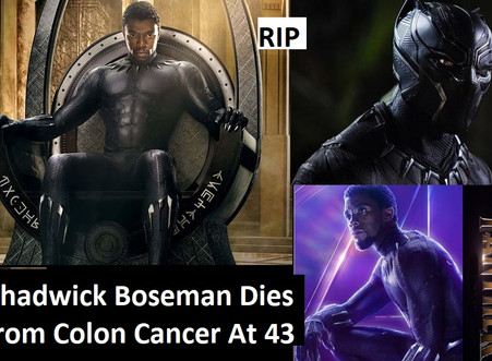 """Chadwick Boseman,Star of """"Black Panther & Avengers"""", Dies of Colon Cancer At 43"""