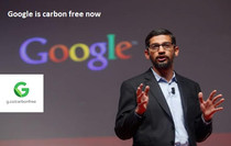 Google CEO , Sundar pichai says google carbon footprint is now zero..