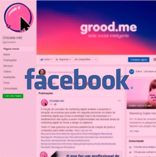 Página do Facebook e Instagram