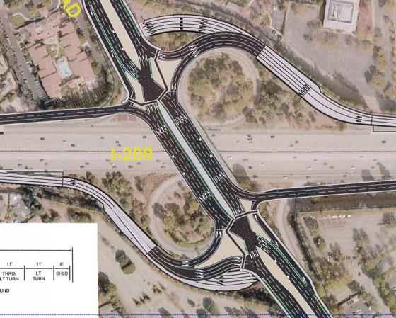 I-280 Interchange at Wolfe Road - Design Options