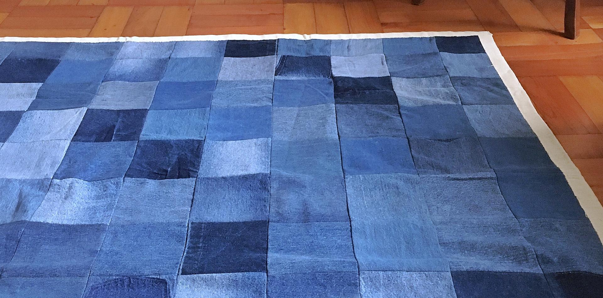 Alfombra jeans reciclados