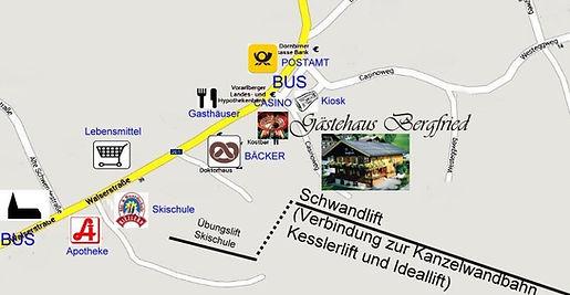 Ferienwohnung Bergfried Anfahrt Kleinwalsertal Anreise