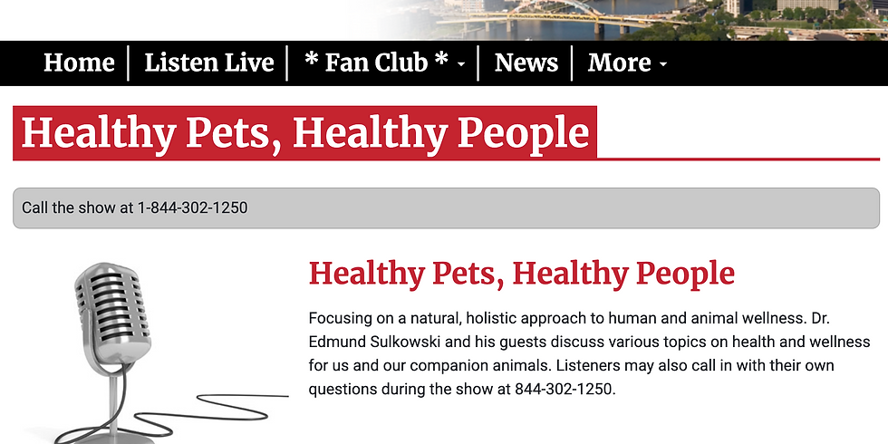 Dr. Ed - Healthy Pets Healthy People AM 1250