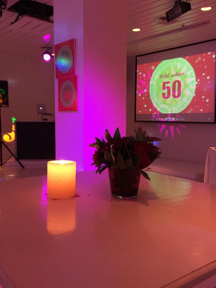 אירוע יום הולדת 50 באולם בוטיק