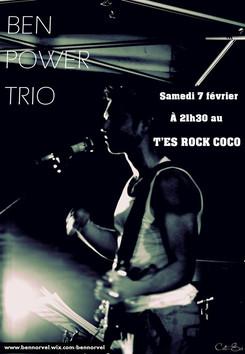 affiche Ben Power Trio T'es Rock Coco A4