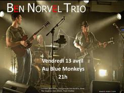 affiche ben norvel au blue monkey avril