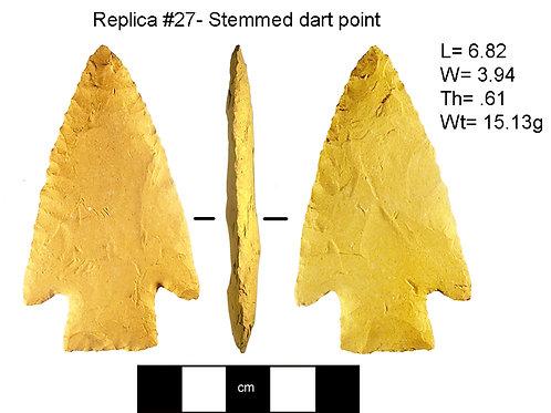 Replica #27- Stemmed dart point