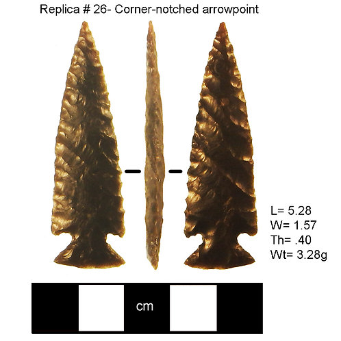Replica 26- Corner-notched arrowpoint
