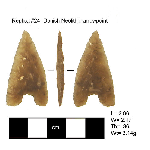 Replica # 24- Danish Neolithic arrowpoint