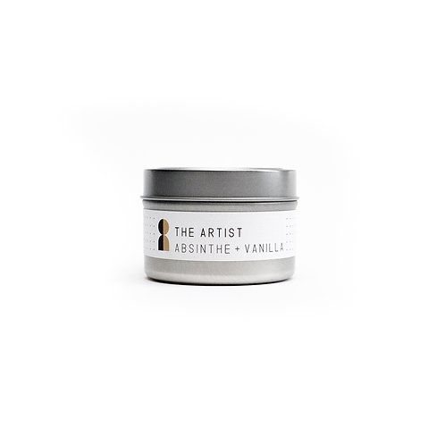 The Artist Tin Candle