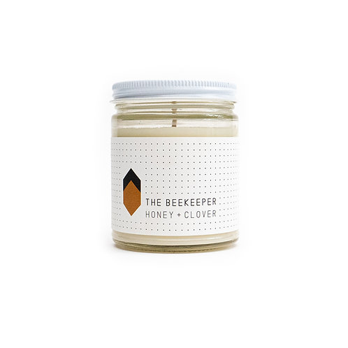 The Beekeeper Glass Candle