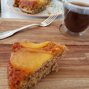 Torta de manzanas alta en fibra