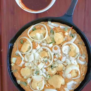 Torta salada de coliflor y cebolla