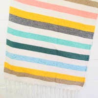 Cabana Stripe Throw- Handwoven