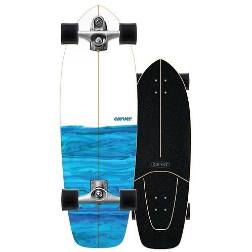 """2021   Carver C7 Raw 31"""" Resin Surfskate Complete"""