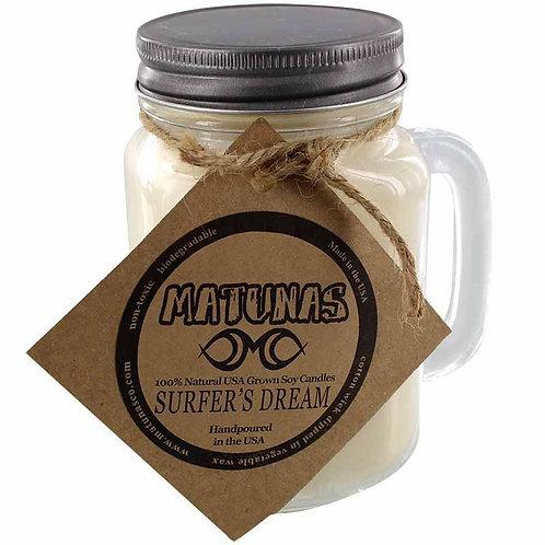 "Matunas ""Surfer's Dream"" All Natural Mason Jug 16oz Candle"