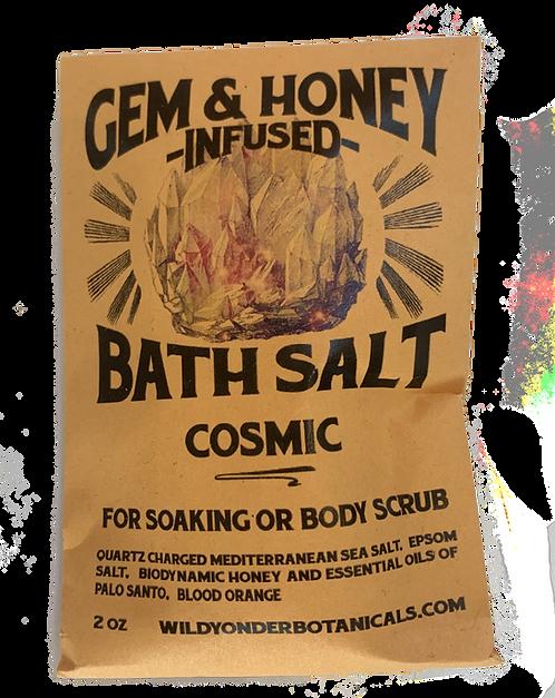 GEM & HONEY INFUSED BATH SALT- COSMIC