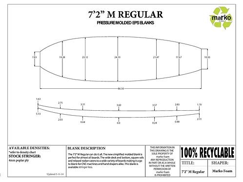 7'2 M REGULAR MARKO FOAM