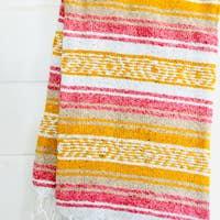Golden Bloom Beach Blanket