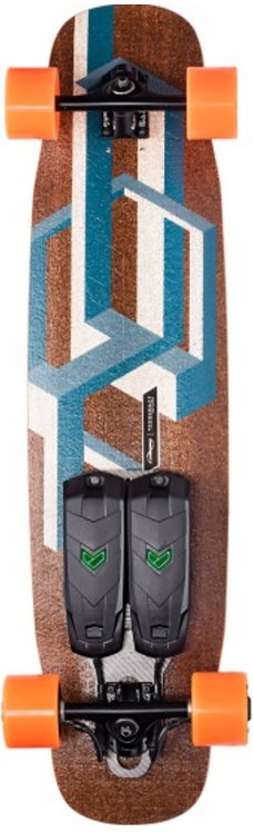 Unlimited Tesseract Blue Race Electric Longboard Complete