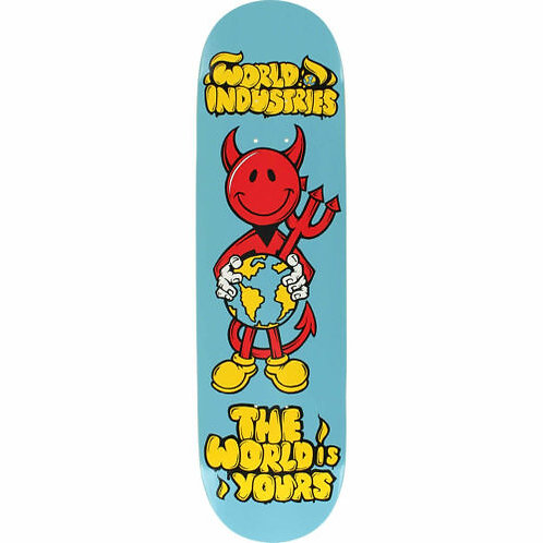 "World Industries Skateboard Deck Devilman The World is Yours 8.25"""