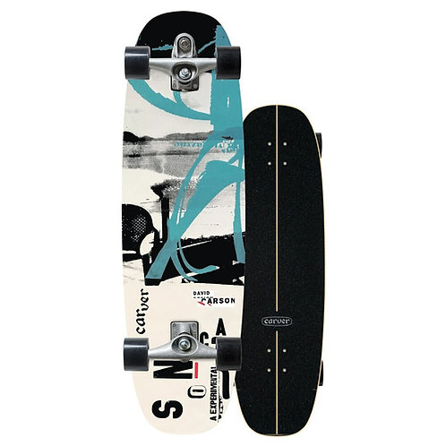 """2021   Carver C7 Raw 33"""" Carson Proteus Surfskate Complete"""
