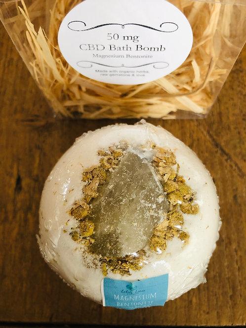 Organic CBD Raw Crystal Bath Bomb