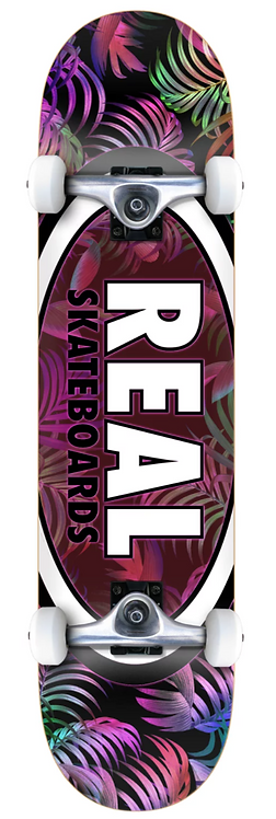 REAL Skateboards Oval Leaves Tropical
