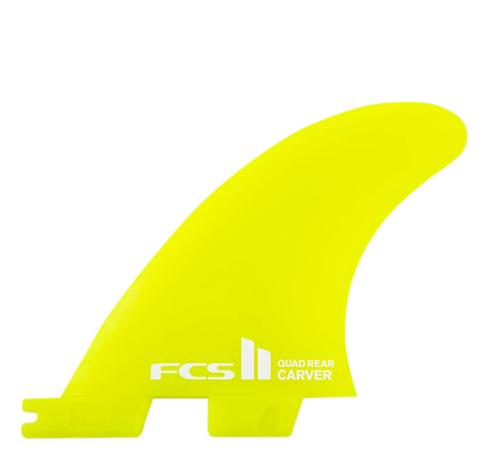 FCS II CARVER NEO GLASS QUAD REAR FINS- MEDIUM