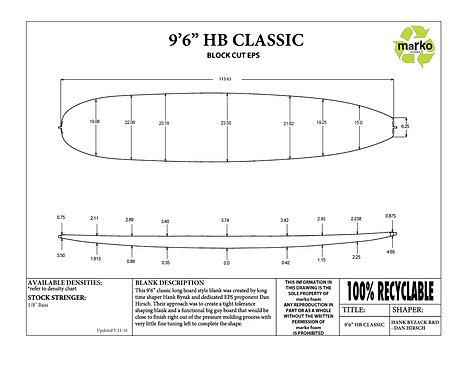 9'6 HB CLASSIC MARKO FOAM