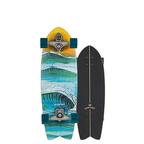 """2021   Carver C7 Raw 29.5"""" Swallow Surfskate Complete"""
