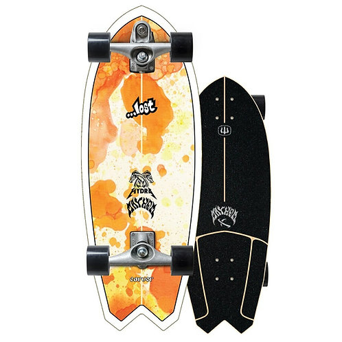 """2021   Lost x Carver C7 Raw 29"""" Hydra Surfskate Complete"""