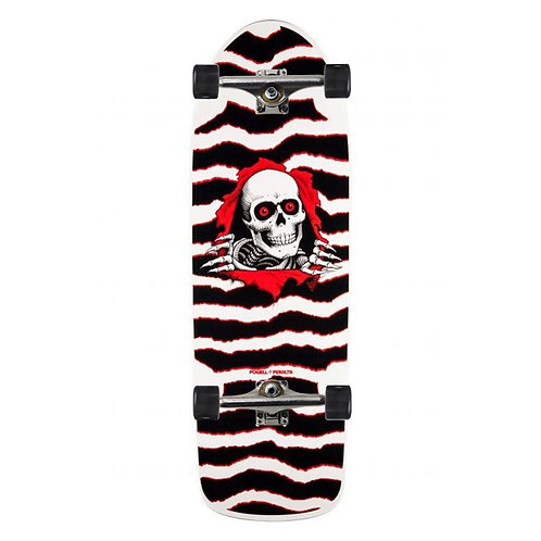 POWELL PERALTA OG RIPPER SKATEBOARD WHITE/RED