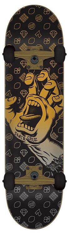 "SANTA CRUZ JACKPOT HAND LARGE 8.25"" LARGE COMPLETE SKATEBOARD"